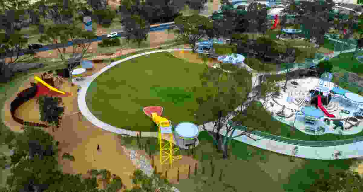 Katanning Welcome Precinct by Plan E won a Landscape Architecture Award in the Parks and Open Space category, the Award of Excellence in the Play Spaces category and a Regional Award.