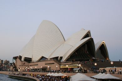 Sydney Opera House by Jørn Utzon, 1973.