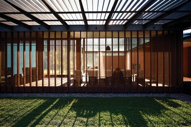 Virginia Kerridge Architect's House in Country NSW takes inspiration from Katsura Imperial Villa where every detail is devoted to the experience of the landscape.