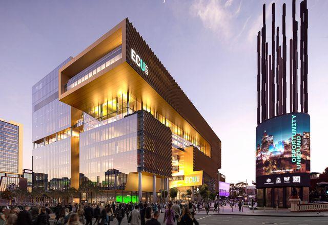伊迪丝考恩大学城市校园由里昂,西尔弗托马斯汉利,和霍沃斯汤普金斯设计。