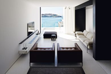 The ocean is a powerful focal point of this functional, beautifully designed Bondi house.