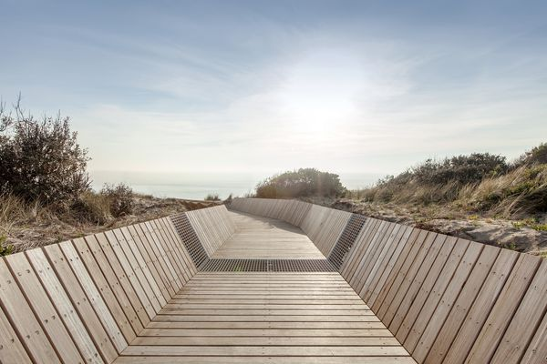McCulloch Avenue Boardwalk by Site Office.