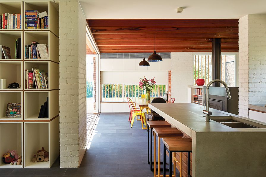 The Miller House is a warmly tactile home that borrows from the techniques of such modernist masters as Alvar Alto.
