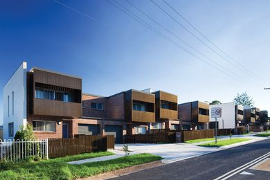 Fox Johnston's three townhouse projects in Seven Hills, Wagga Wagga and Muswellbrook, are celebrated examples of architect-designed social housing.