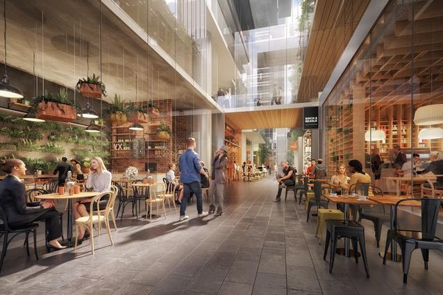 A proposed laneway, part of the Melbourne Quarter precinct development.