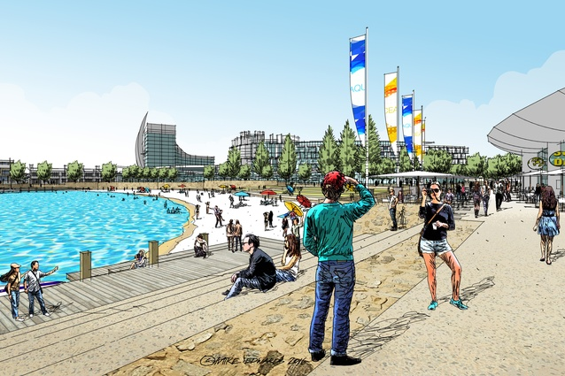An artist's visualization of the redeveloped Ocean Reef Marina.
