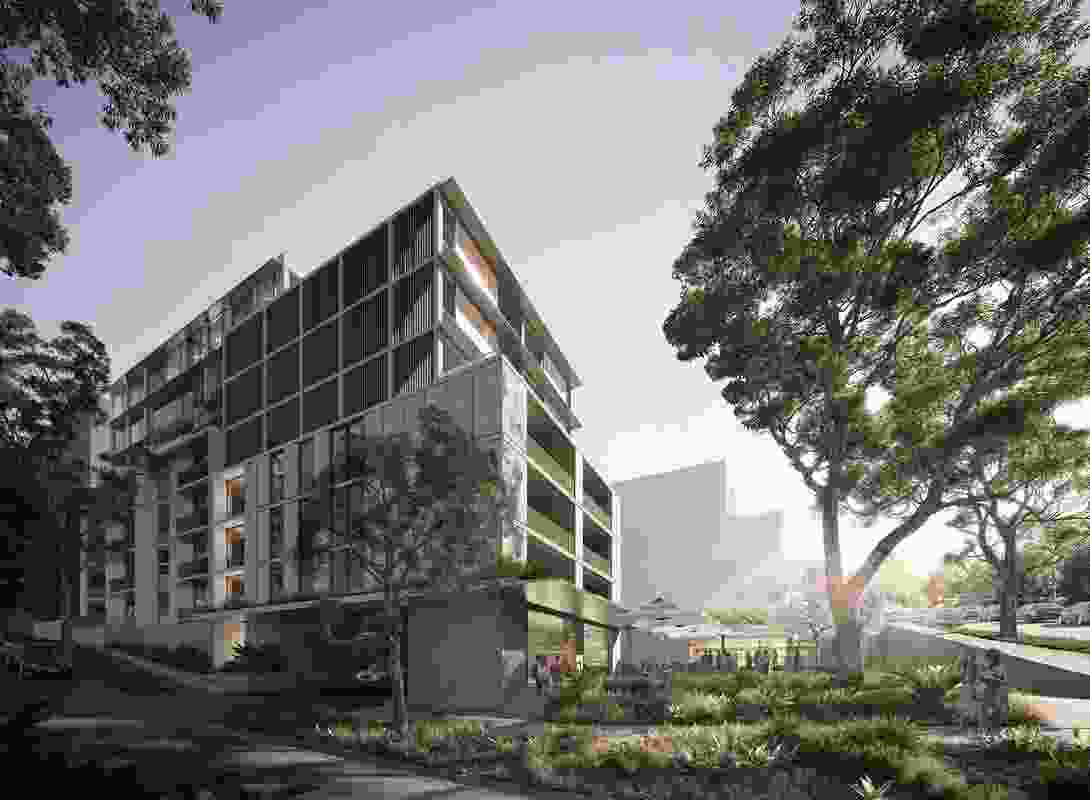 The proposed residential building that is the subject of the development application, by Chrofi.