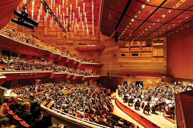 The concert chamber is modified to improve acoustics and access.