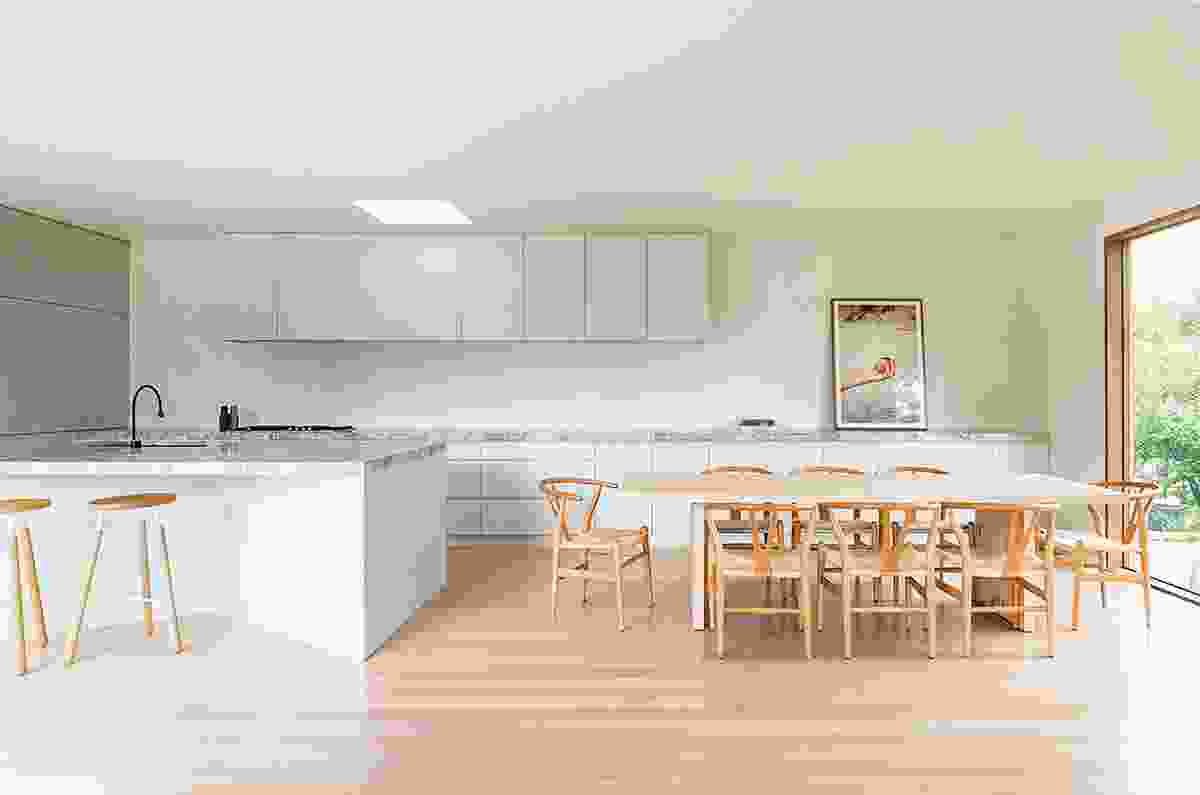 """When designing kitchens, Olaver Architecture like to consider the potential """"theatre"""" of the space. Artwork: Christopher Day."""