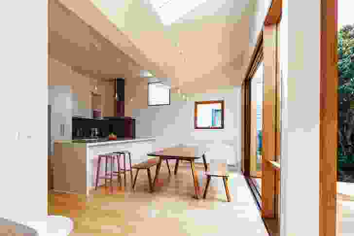 High ceilings and skylights improve access to natural light.