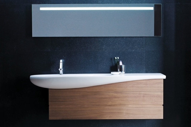 Tuna basin from Laufen's Ilbagnoalessi One collection.