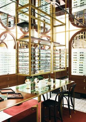 """The mirrored arches and mirrored ceiling are consistent with a charming """"cabinet of curiosities."""""""