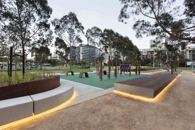 CLEC site stage 2, Docklands Park by MALA Studio.