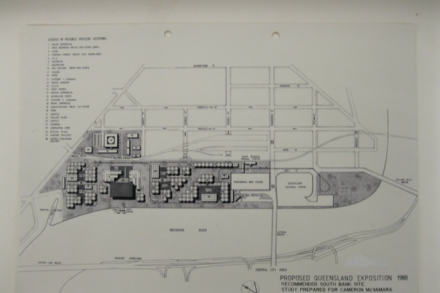 Original masterplan for the Expo 88 site by Bligh Maccormick.