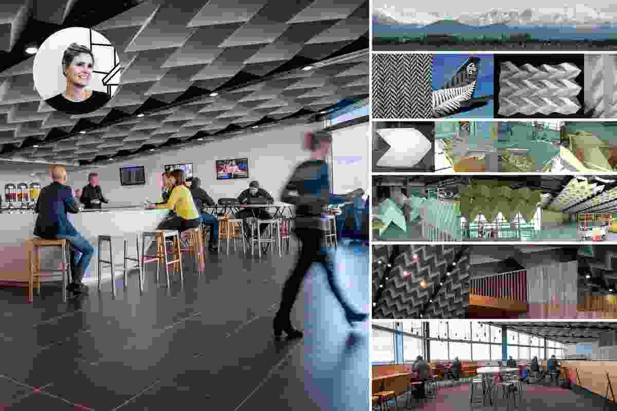 Winner: Emerging Design Professional — Meg Rowntree. Air New Zealand Koru lounge.