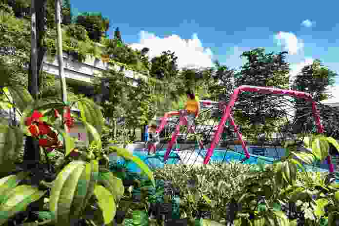 """Opportunities for children and adults to exercise, play and garden together make the development a true urban """"village."""""""