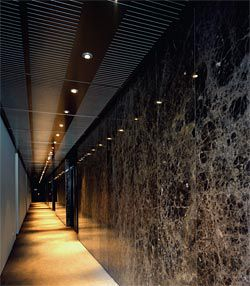 Looking along the upper interior corridor that is lined with marble.Image: Patrick Bingham-Hall