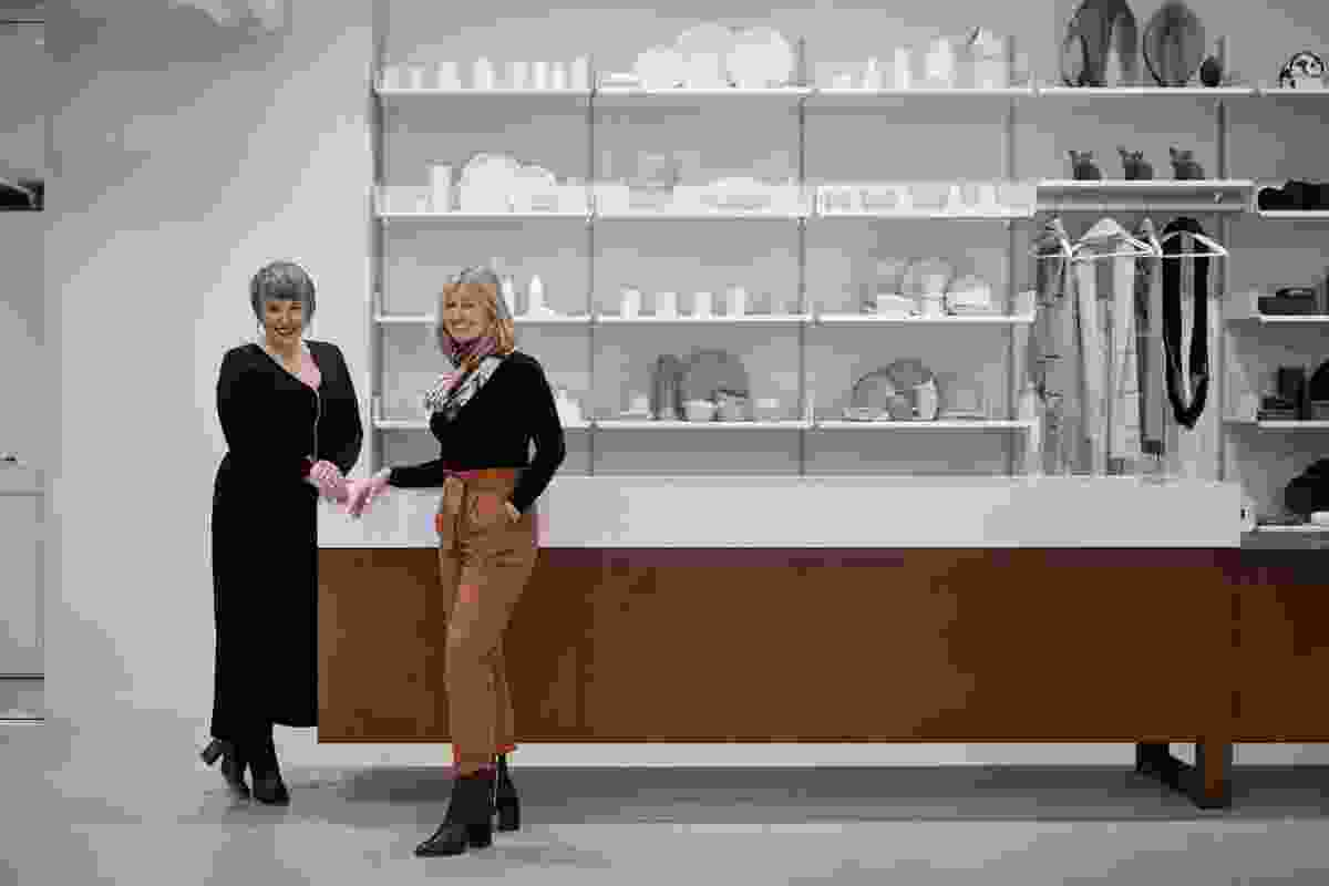 Craft Victoria CEO Melissa King with architect Karen Abernathy.