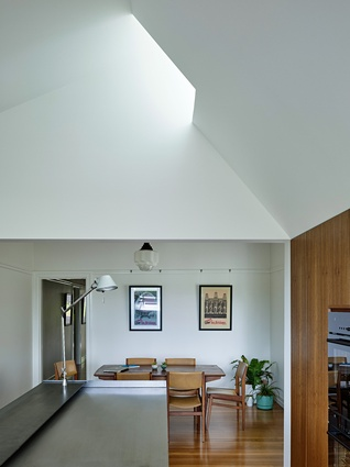 Period features in the Herston Residence are retained and restored and the new elements have a contemporary character.