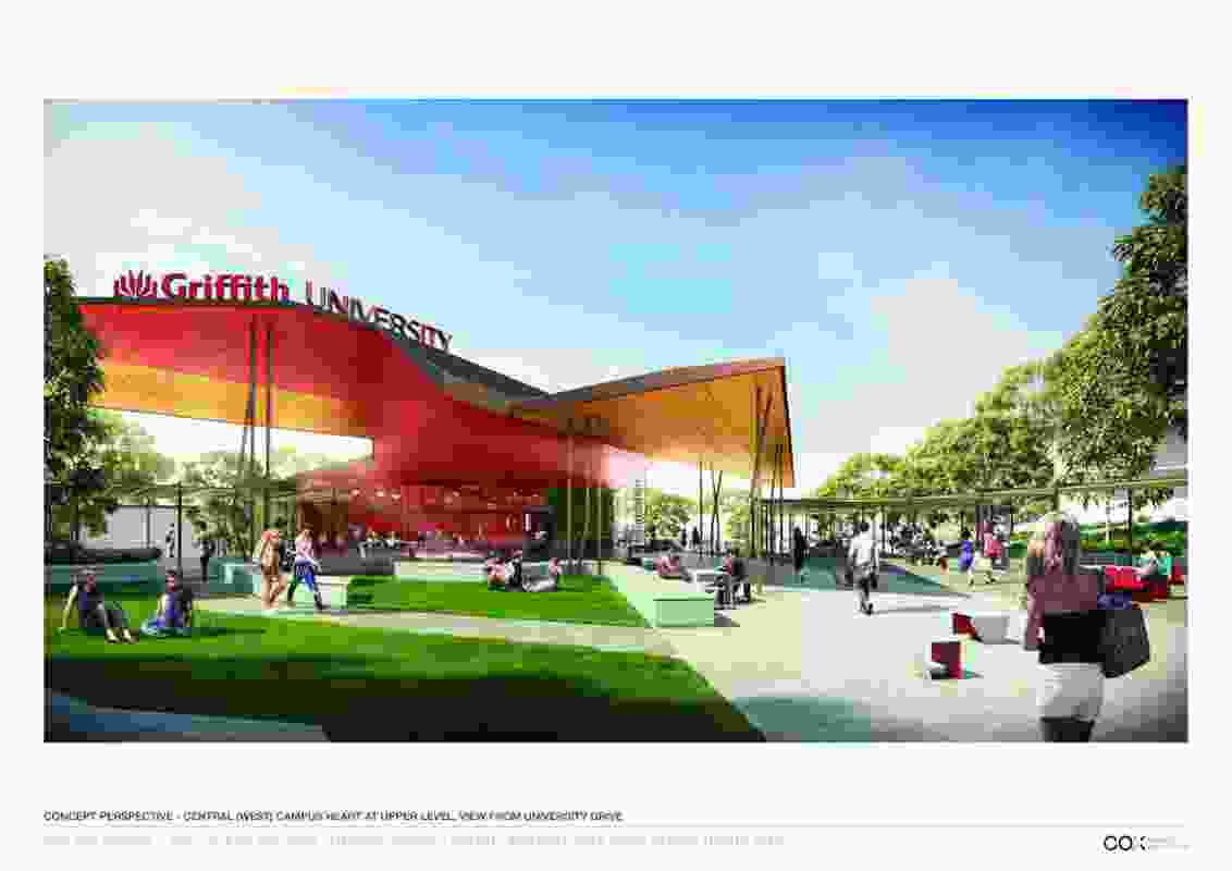 Griffith University Gold Coast Campus Masterplan by Cox Rayner Architects.