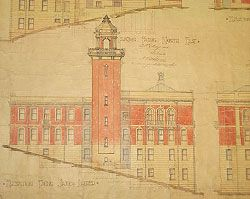 Detail from the original drawing of the Trades and Labour Hall (1919) by Charles McLay. Fryer Library University of Queensland.