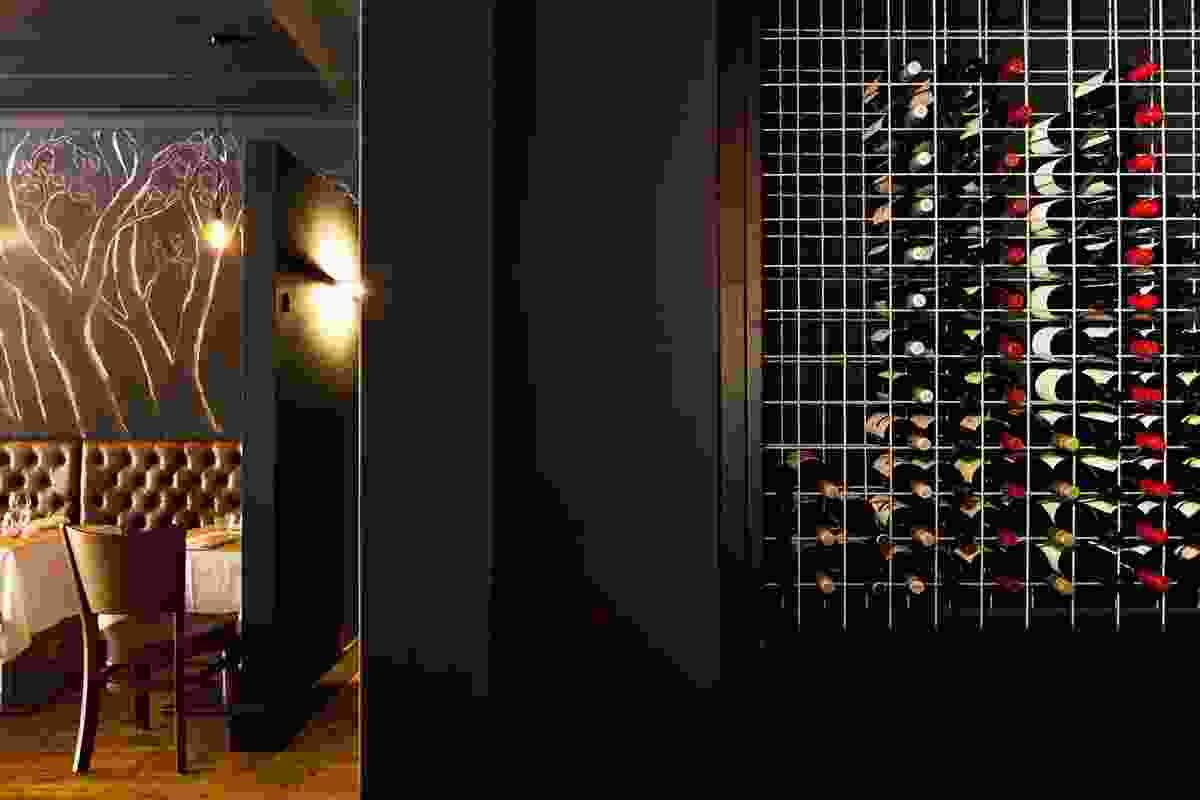 Wine cellar meets restaurant.