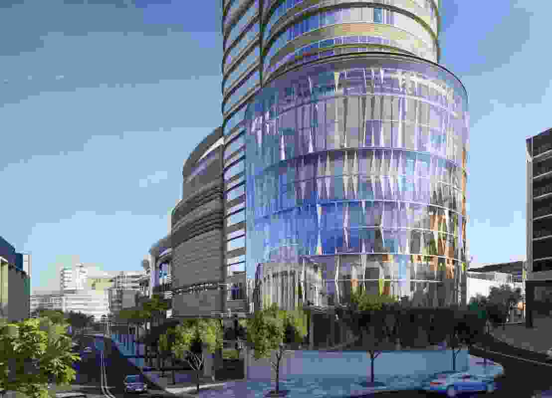 A neighbourhood centre in the podium of the proposed tower at The Star Sydney by FJMT.