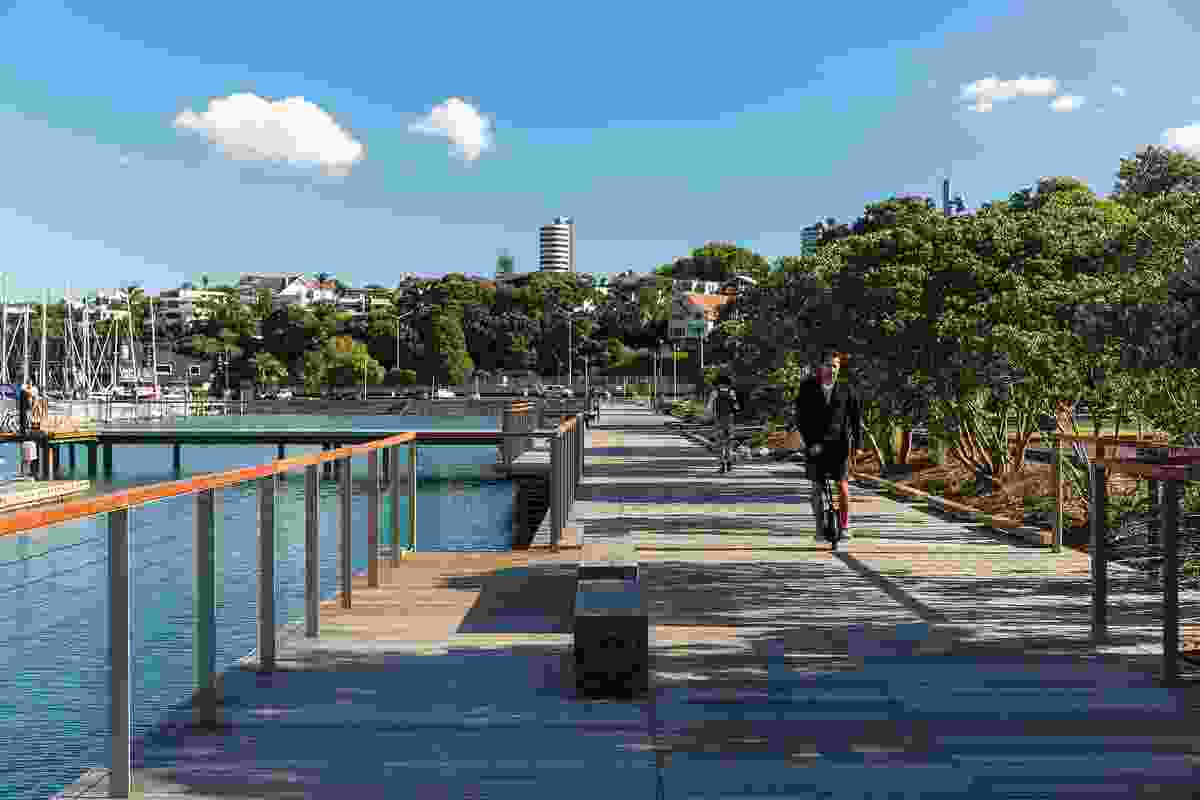 Designed by Aspect Studios in collaboration with Architectus and Landlab, Auckland's Westhaven Promenade provides a pedestrian and cycle link between the city and the previously isolated Westhaven marina.