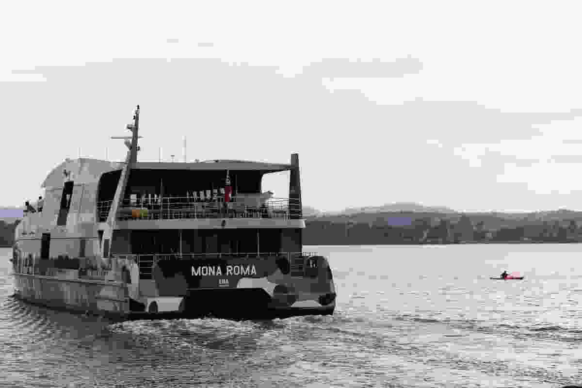 MONA Roma 1 river-cat ferries visitors Up and down the Derwent to MONA.