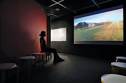 Edited versions of two documentary films are included in the exhibition to inform those less familiar with Murcutt's work.