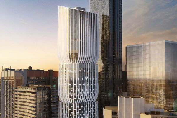 Proposed tower at 582-606 Collins Street, Melbourne designed by Zaha Hadid Architects and Plus Architecture.