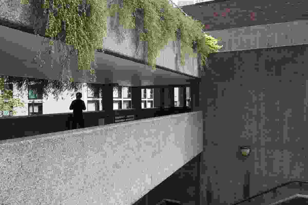 Circulation bridges at the Barbican Estate.