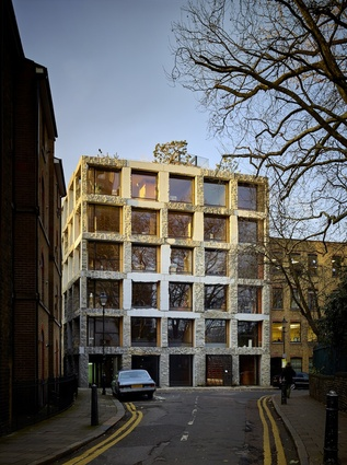 15 Clerkenwell Close in London was designed by Groupwork and uses natural stone on the façade.