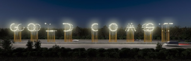 """""""Hi-Lights"""" by Lot-ek, Officer Feuerman and Urban Art Projects."""