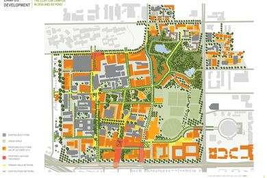 Monash university clayton campus masterplan 2011–2030 (MGS Architects).