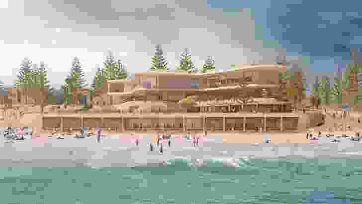 Kerry Hill Architects' design is one of two  proposals for the redevelopment of Perth's Indiana Tea House judged the strongest by the jury.