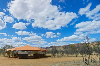 Nick's Camp, near Simpsons Gap, named in honour of the late Nick Murcutt.