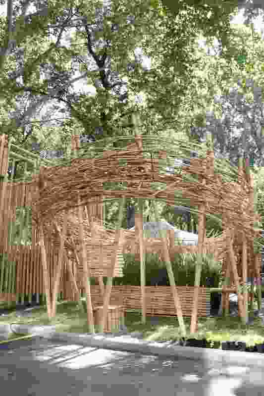 """The winner of the first BFU Garden-making Festival in 2018, a project titled """"Look up at the moon."""""""