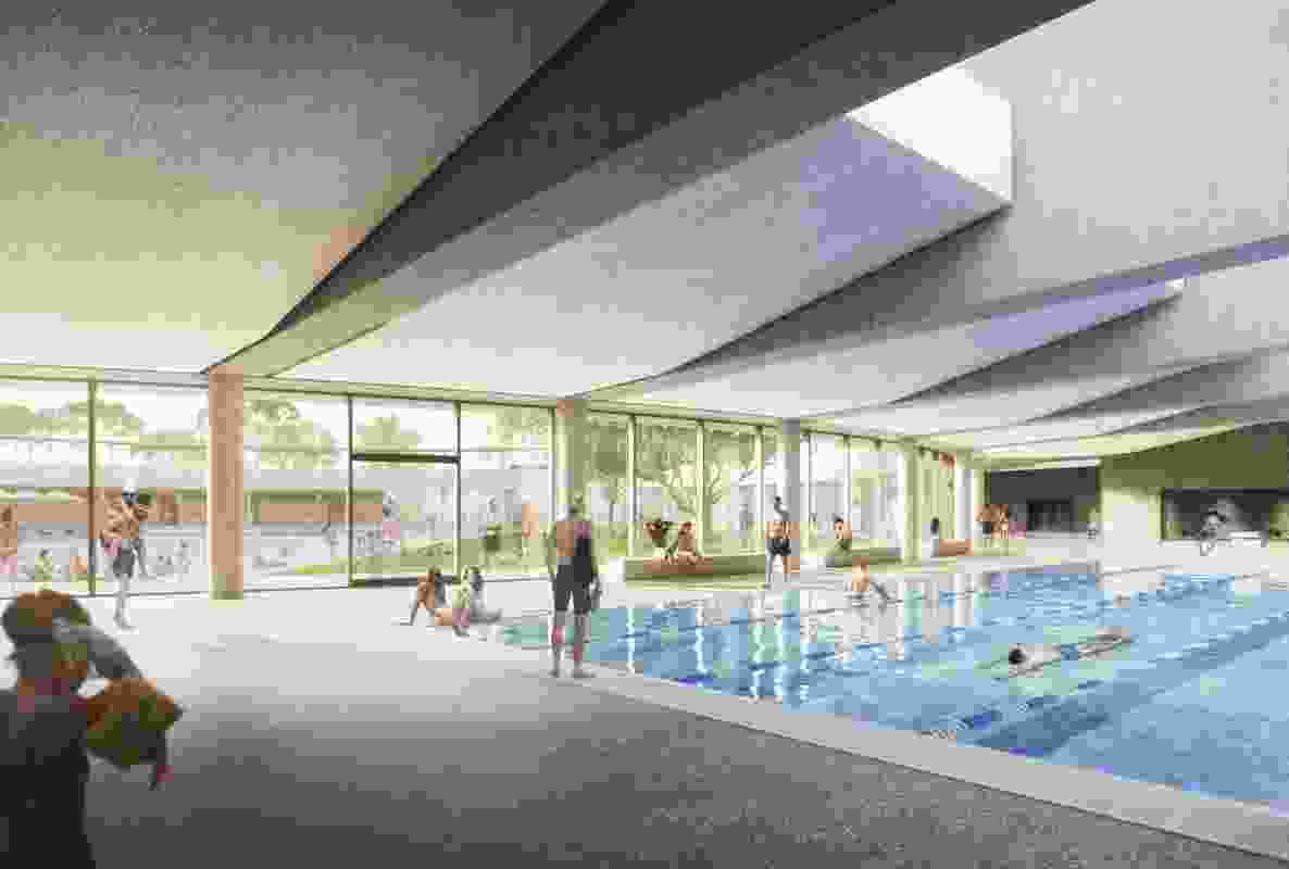 Parramatta Aquatic and Leisure Centre by Grimshaw, Andrew Burges Architects and McGregor Coxall.