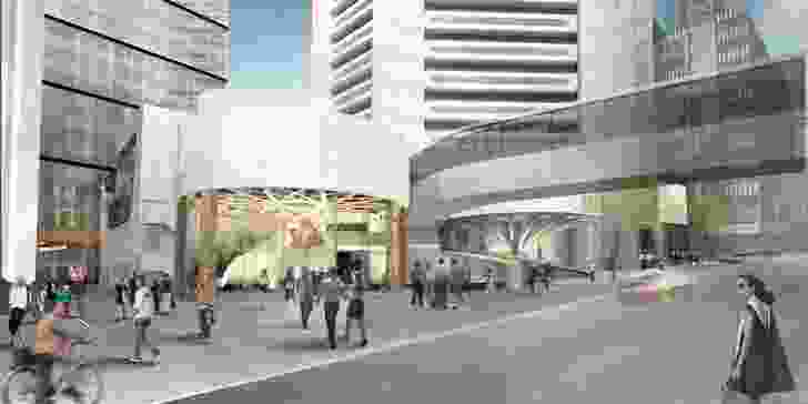 The Theatre Royal will be revitalized as part of the proposed redevelopment of MLC Centre. Design led by Woods Bagot in collaboration with Harry Seidler and Associates.