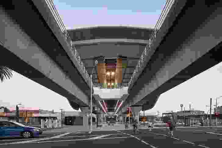 Caulfield to Dandenong Level Crossing Removal by Cox Architecture with Aspect Studios.