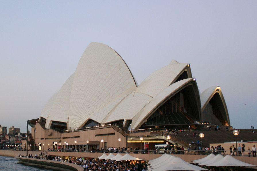 Sydney Opera House by Jørn Utzon, 1973.