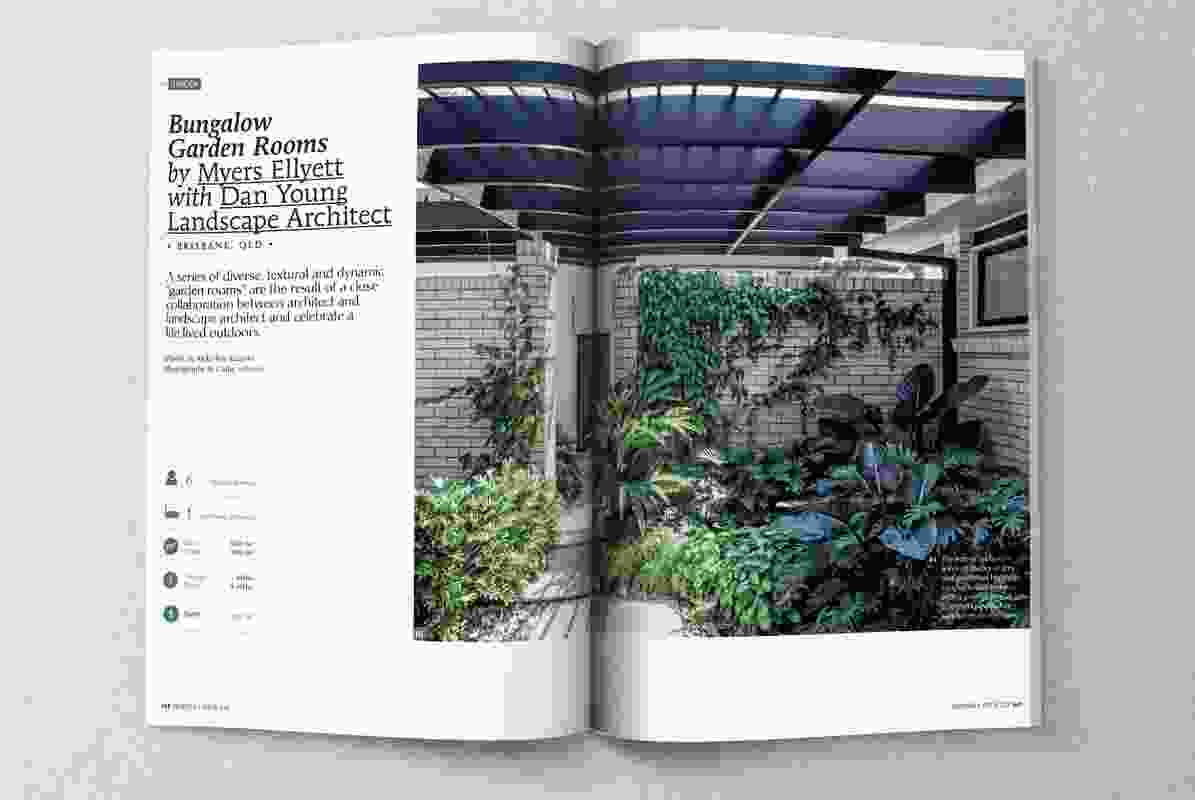 Bungalow Garden Rooms by Myers Ellyett with Dan Young Landscape Architect.