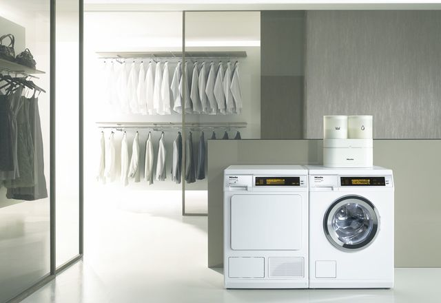 Miele W 5000 WPS Supertronic washing machine and the Miele T 8000 WP Supertronic HeatPump dryer.