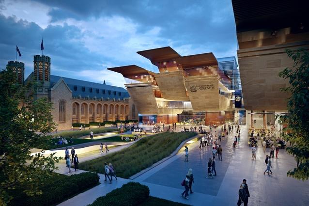 New 20 year adelaide uni masterplan unveiled architectureau for Architecture adelaide uni
