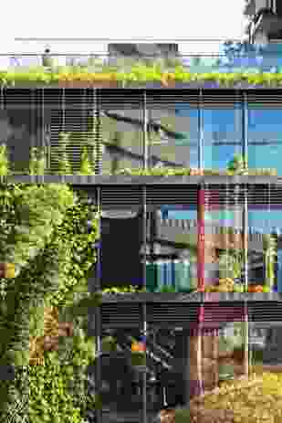 Almost 50 percent of the towers' facades are planted with green walls designed by French botanist Patrick Blanc.