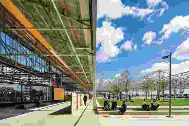 弗林德斯大学公共场队位于主要装配大楼(MAB)的北部,现在是一个露天社区空间。