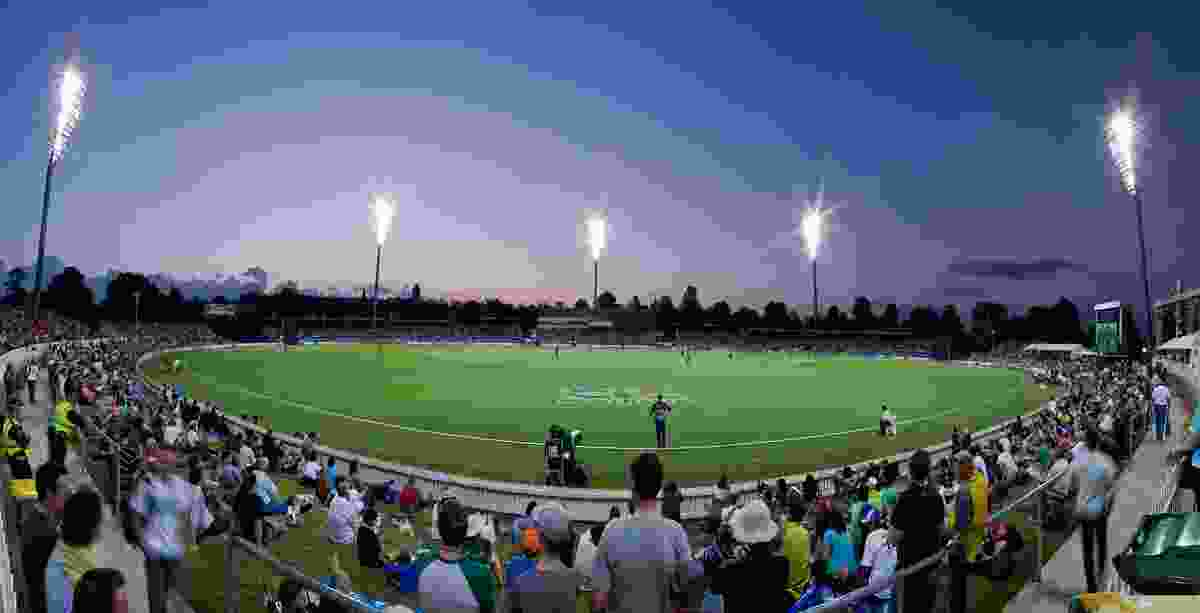 Manuka Oval Sport Lighting by Cox Architecture.