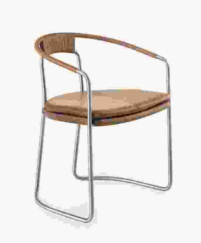 CB-450 Geometric Side Chair from BassamFellows.