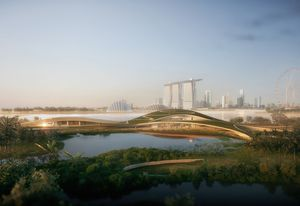 Singapore Founders Memorial proposal by Kengo Kuma and Associates and K2LD Architects.
